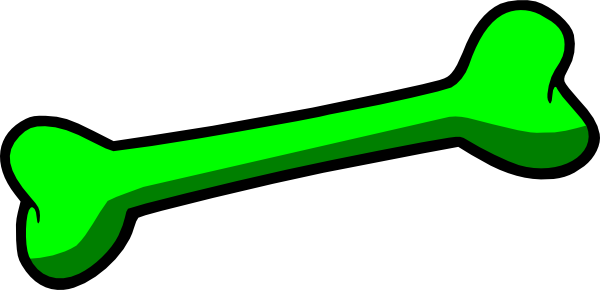 600x290 Green Dog Bone Clip Art