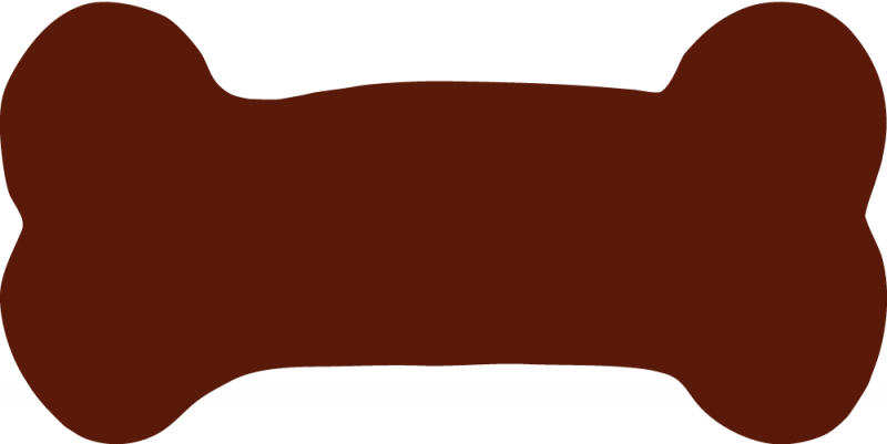 800x401 Brown clipart dog bone