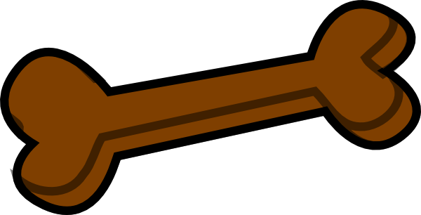 600x306 Dog Bone Brown Clip Art