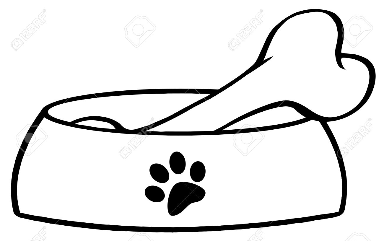 1300x816 Bowl Clipart Dog Bone