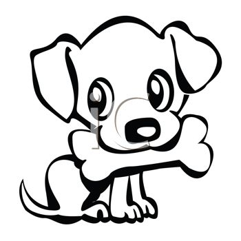 350x350 Dog With Bone In Mouth Clipart