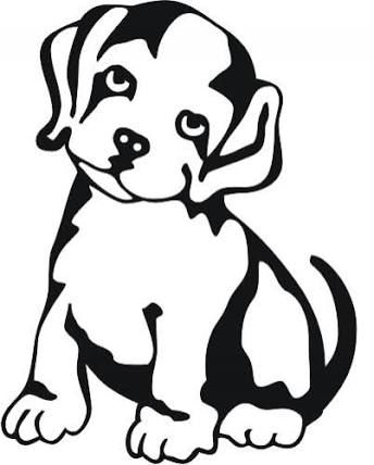 344x428 Best Dog Outline Ideas Dog Template, Templates