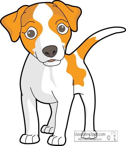 431x500 Dog clipart free