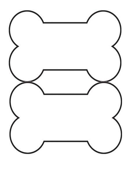 453x640 Dog Bone Template Printable Dog Bone Tag Templates