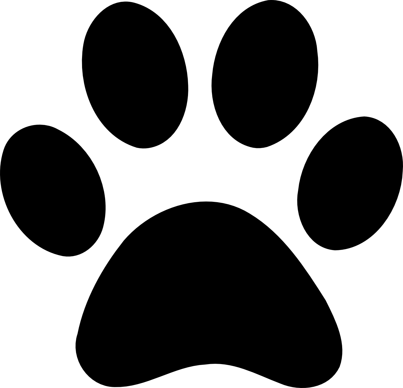 1331x1282 Paw Clipart Dog Bone