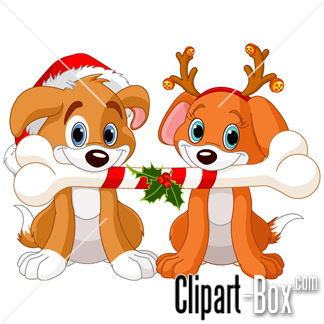 324x324 Clipart Of Christmas And Dogs
