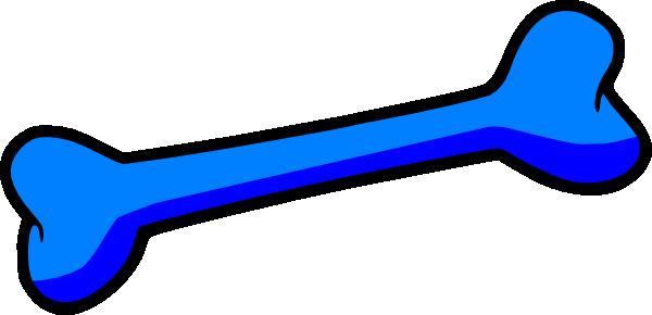 600x290 Blue Dog Bone Clip Art