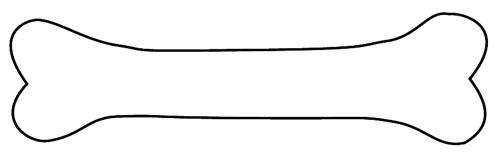 500x159 Bones Clipart Outline