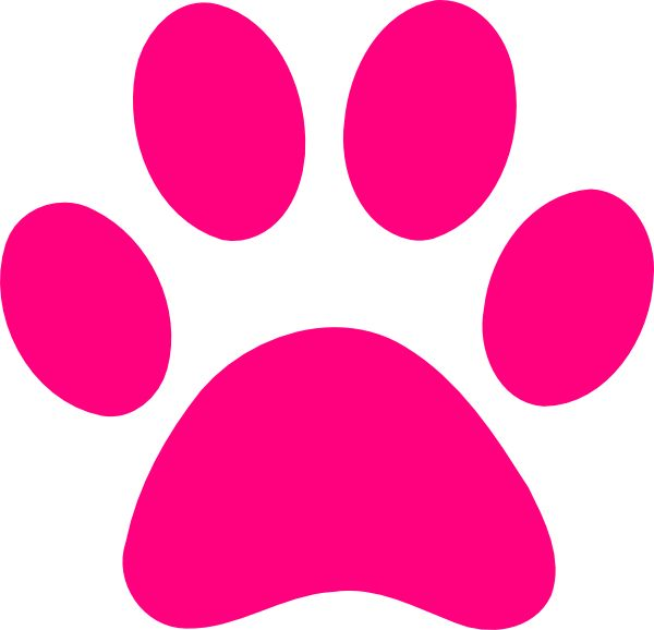 600x578 Dog Bone Pink Print Dog Paw Print Transparent Background Paw Print
