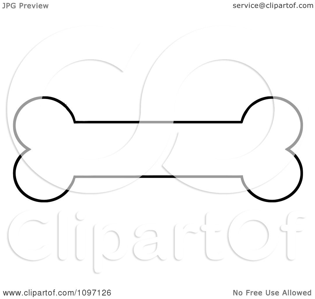 1080x1024 Clipart Black And White Outlined Dog Bone Biscuit