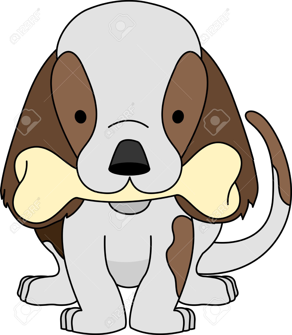 1134x1300 Dog With Bone In Mouth Clipart