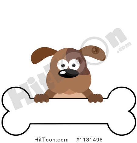 450x470 Dog Bone Banner Clipart