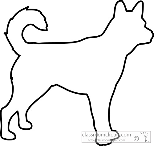 500x474 Dog Outline Clipart
