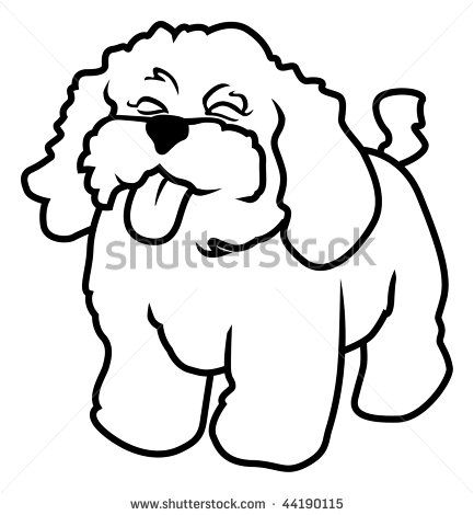 433x470 Outline Drawings Of Dogs Cartoon Vector Outline Illustration