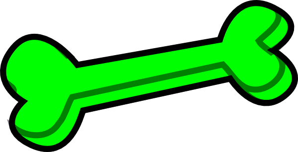 600x306 Dog Bone Green Clip Art