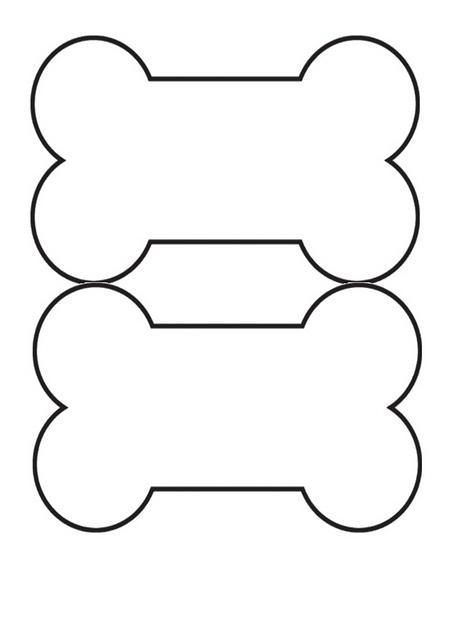 453x640 Dog Bone Outline