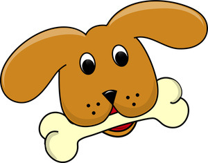 300x236 Dog With Bone In Mouth Clipart
