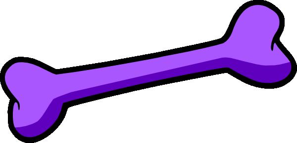 600x290 Purple Dog Bone Clip Art