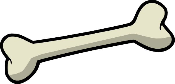 600x290 Dog Bone Clip Art