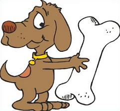241x223 Free Dog Bone Clipart 5