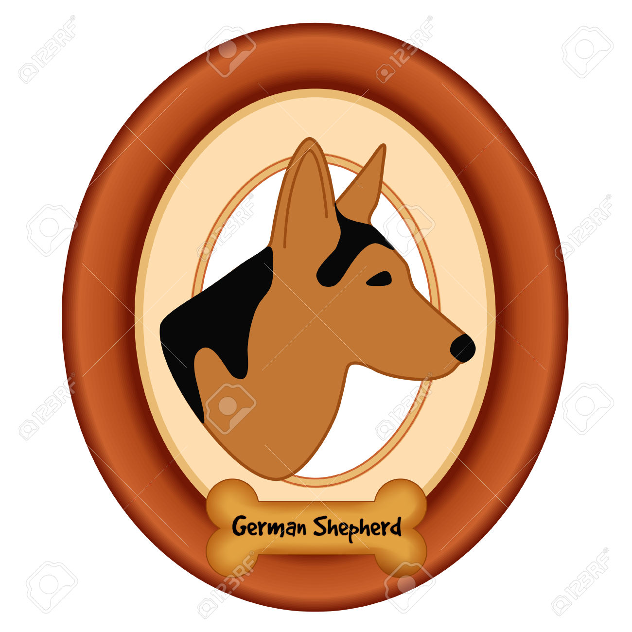 1300x1300 German Shepherd Dog Bone Clipart, Explore Pictures