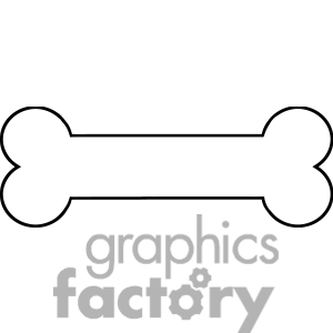 300x300 Free Printable Dog Bone Clipart