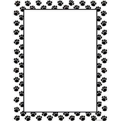 400x400 Free Clipart Dog Paw Print Border