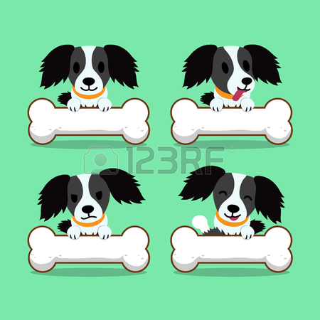 450x450 Cartoon Character White Dog With Big Bones Royalty Free Cliparts