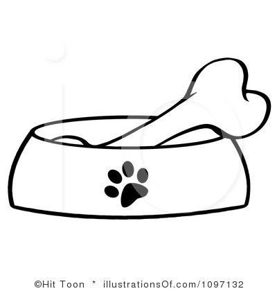 400x420 Dog Bone Clip Art Black And White Clipart Panda