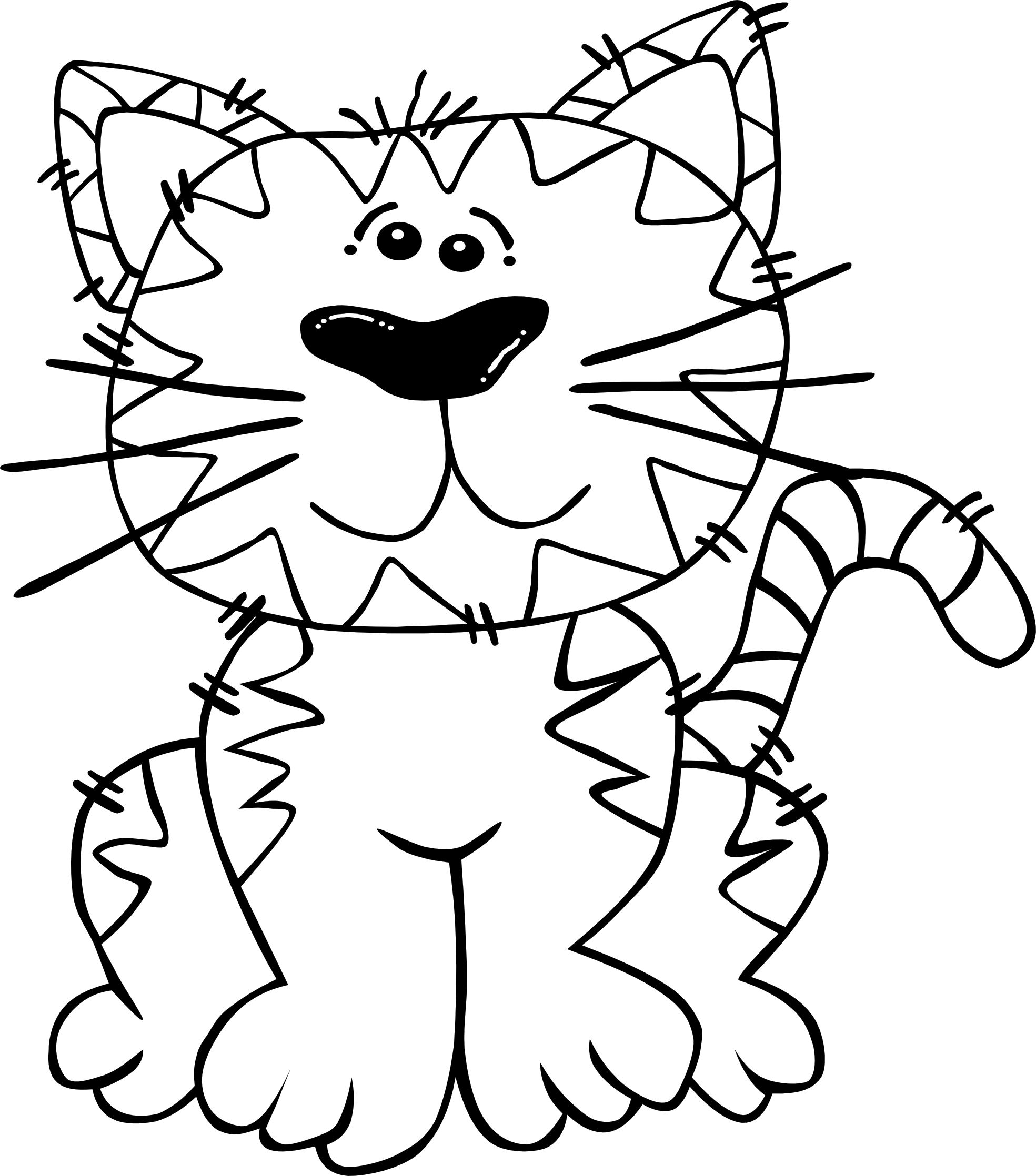 1969x2236 Cat Clipart Black And White
