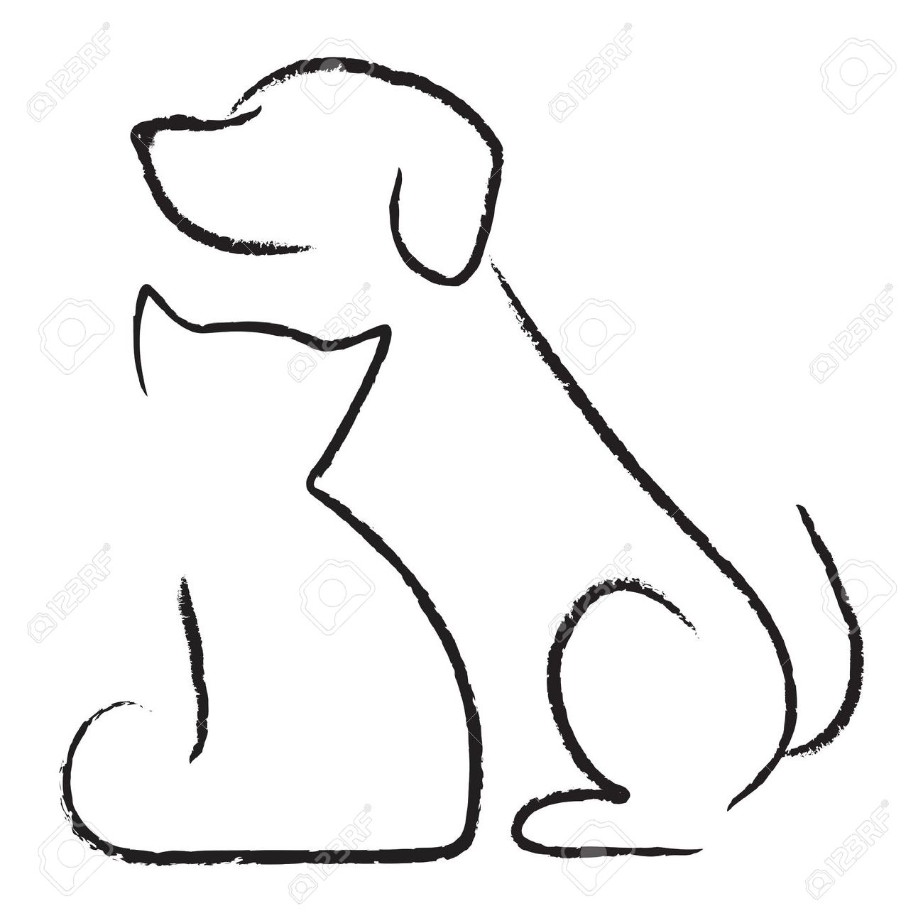 1300x1300 Dog And Cat Clipart Black And White 101 Clip Art