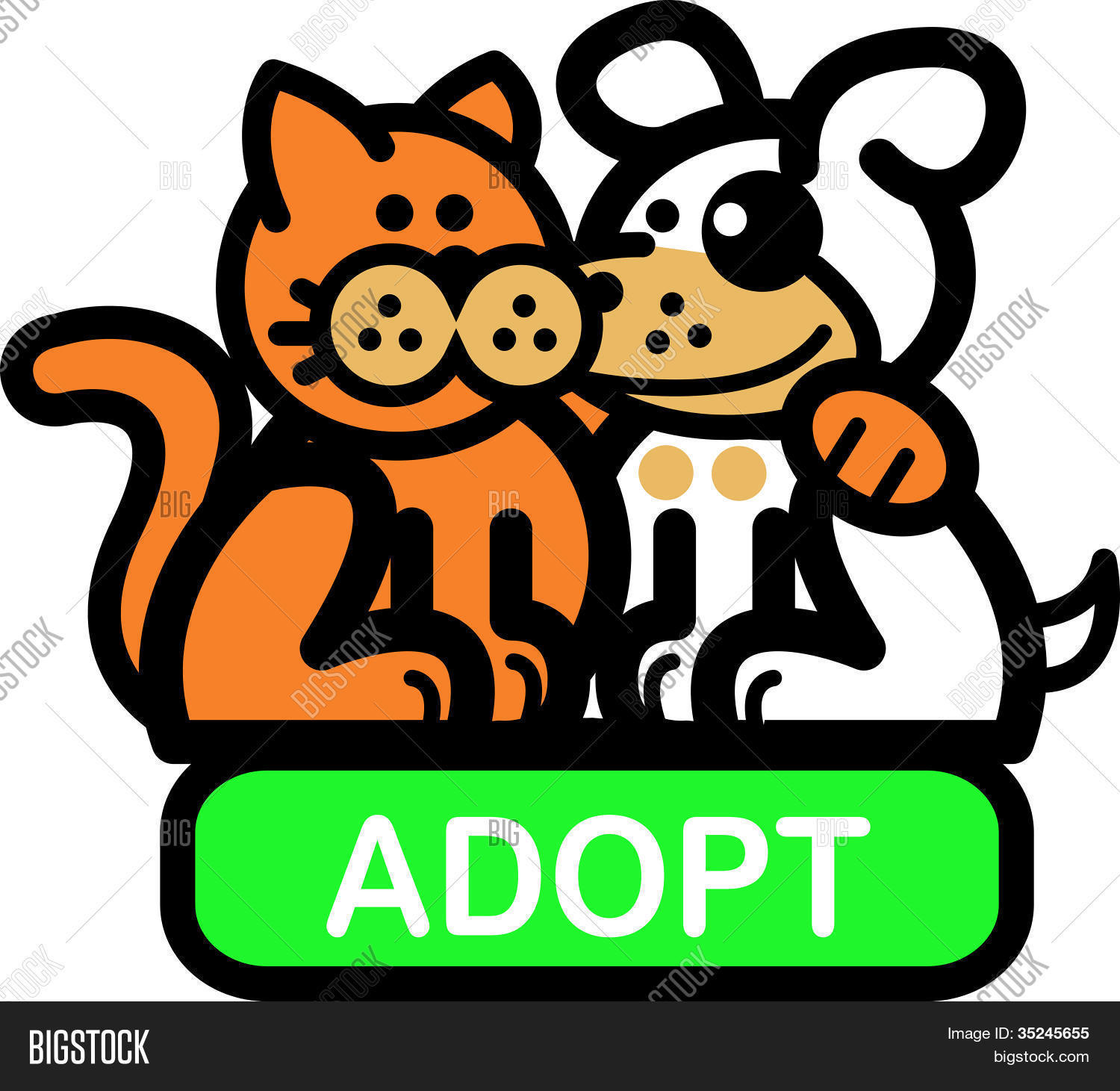 1500x1461 Dog Cat Clip Art Vector Amp Photo Bigstock