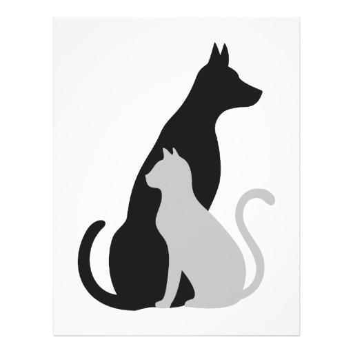 512x512 Cat And Dog Silhouette Clip Art