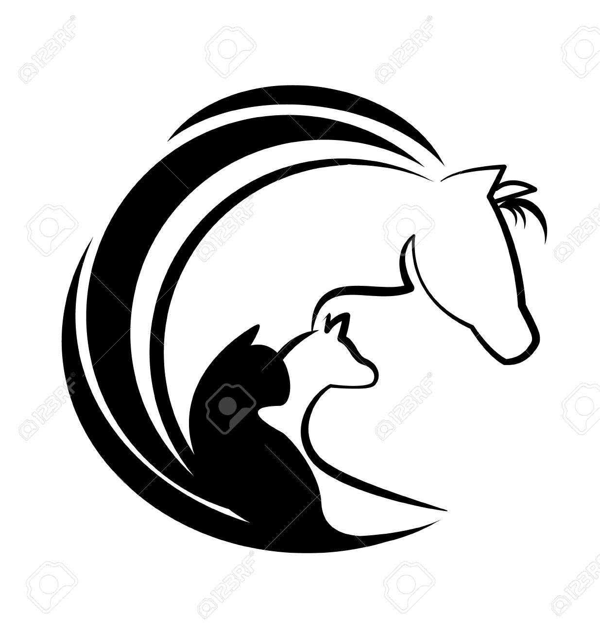 1235x1300 Horse Cat And Dog Silhouette Icon Vector Royalty Free Cliparts