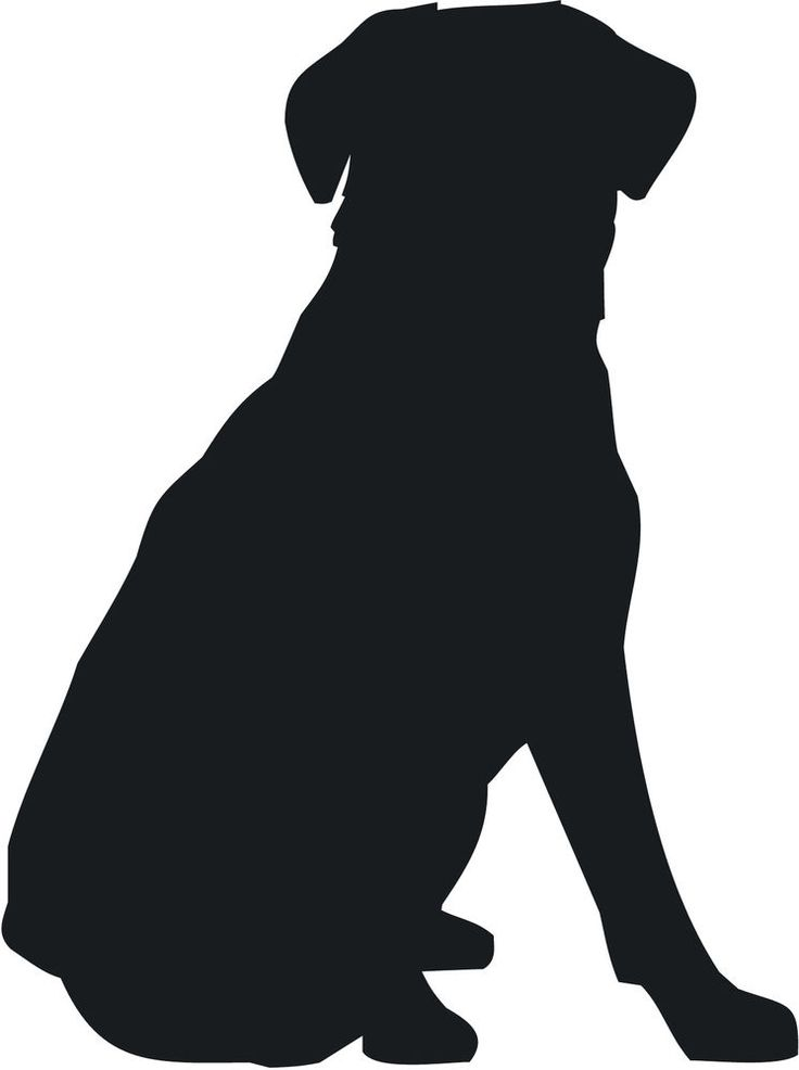 736x986 Sitting Dog Silhouette Clip Art