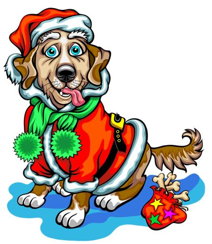 Dog Christmas Clipart