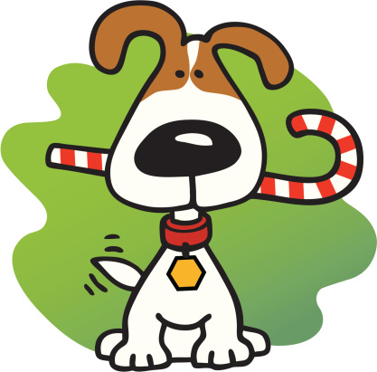 417x411 Christmas Dog Clipart