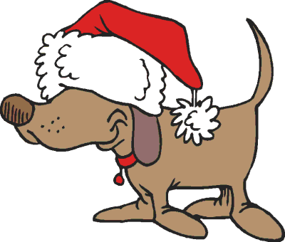 400x340 Puppy Clipart Holiday