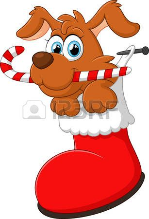 307x450 Dog Christmas Cartoon Dog Christmas District Holiday Card Ideas