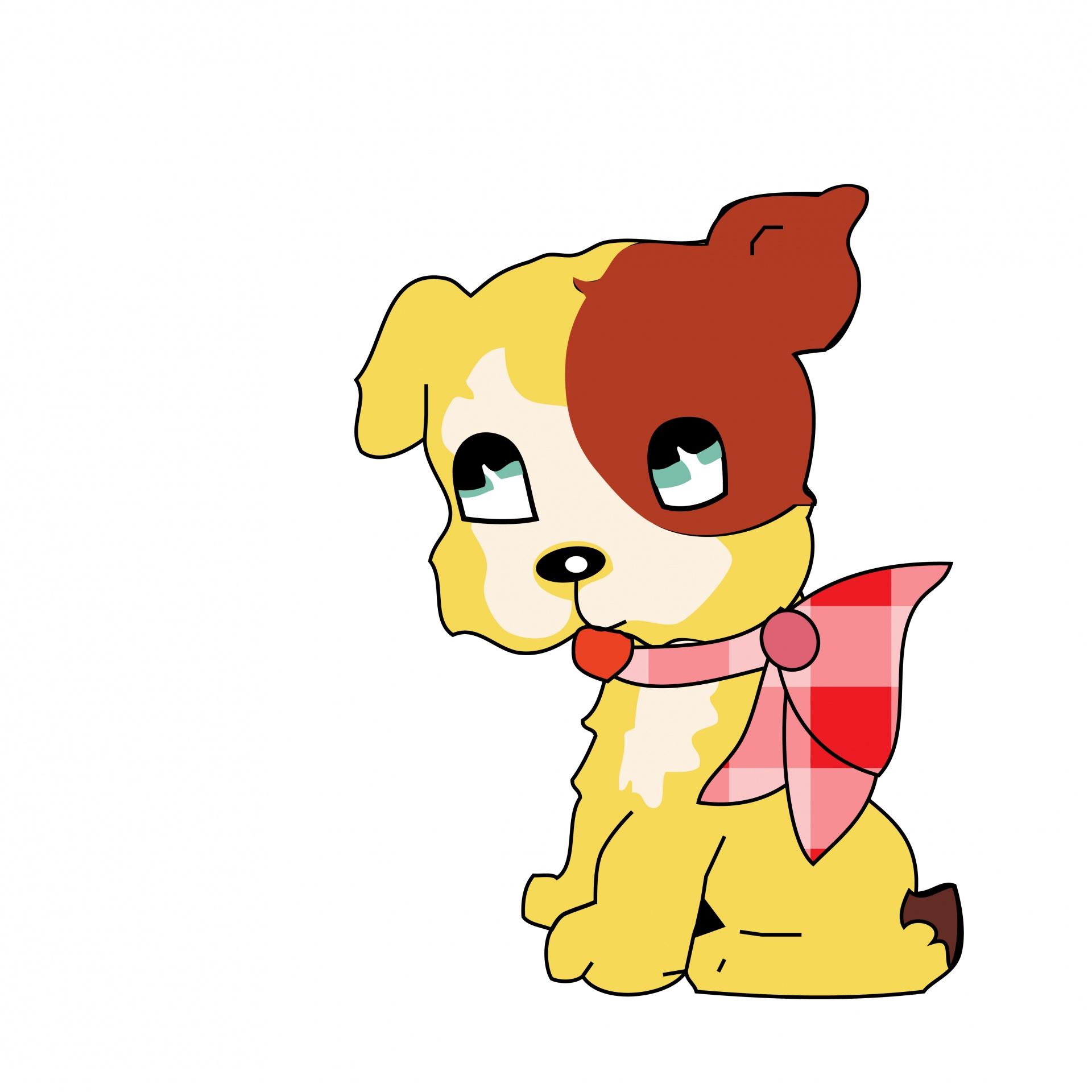 1920x1920 Cute Dog Clipart Free Stock Photo