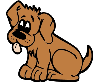 325x285 Brown Dog Free Clipart