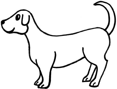 409x309 Clip Art Black And White Dogs 3 Clipart