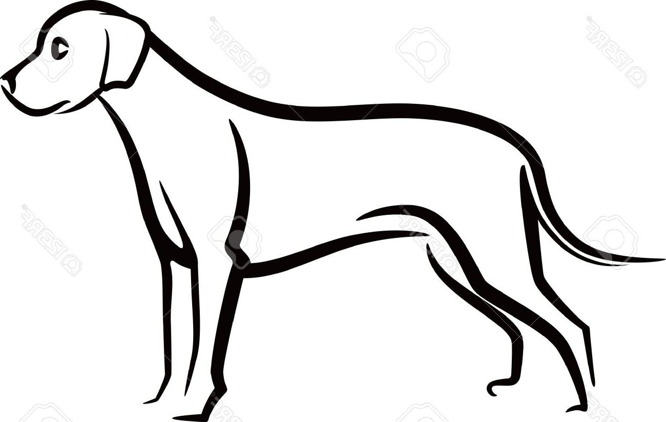 1300x825 Dog Outline Clip Art » Free Vector Art, Images, Graphics amp Clipart