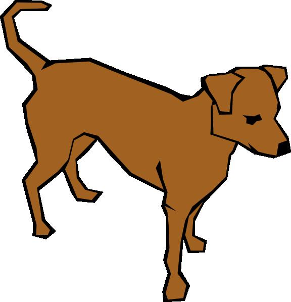 576x598 Brown Clip Art Dog Clip Art