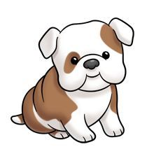220x220 Cute Cartoon Dogs Clip Art Clipart Cute Puppy Looking Back And