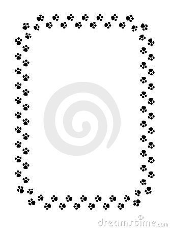 334x450 27 Images Of Dog Paw Print Border Template
