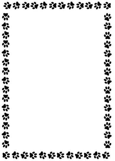 389x544 Free Clipart Dog Paw Print Border