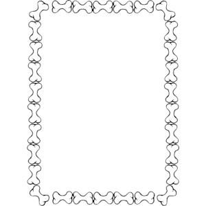 300x300 Bones Border Clip Art