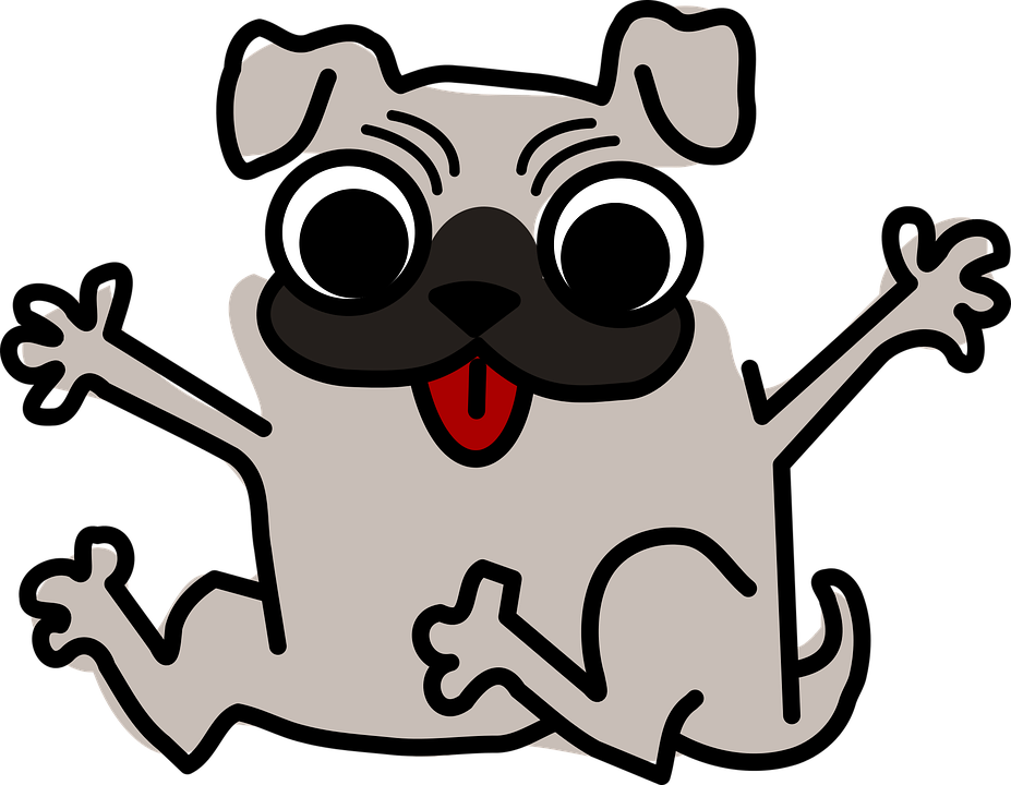 927x720 Pug Clipart Animated