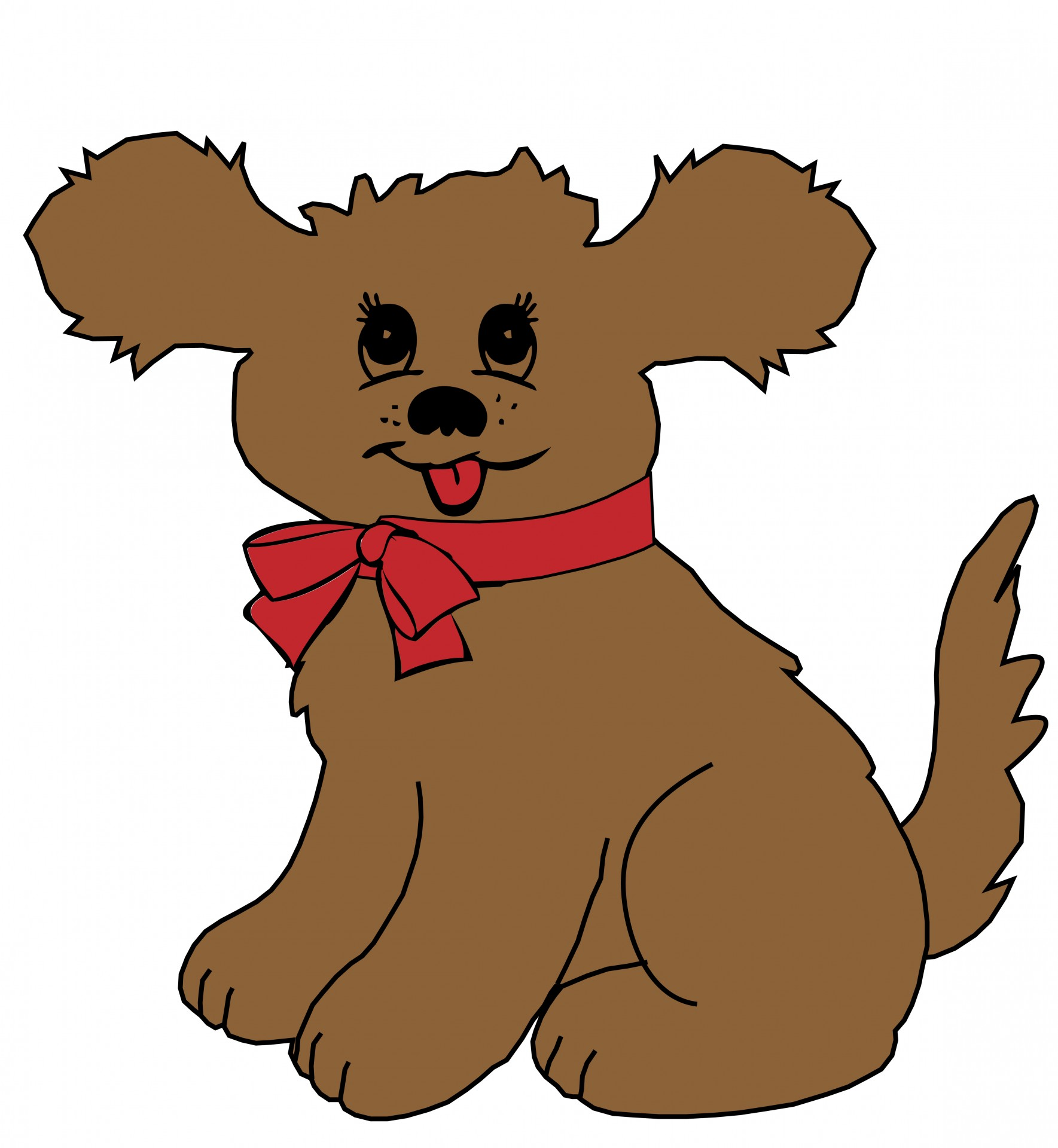 1769x1920 Cartoon Dog Clipart